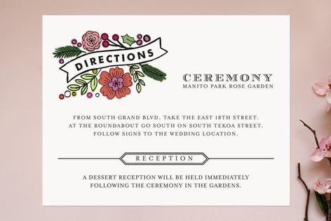 Wildflower Label Direction Cards