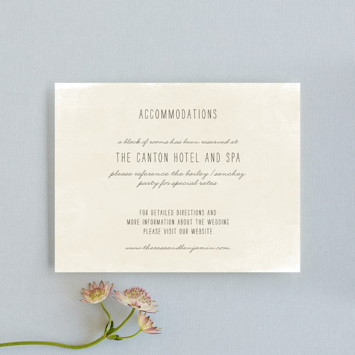 """Moment in Time"" - Vintage Direction Cards in Linen by The Social Type."
