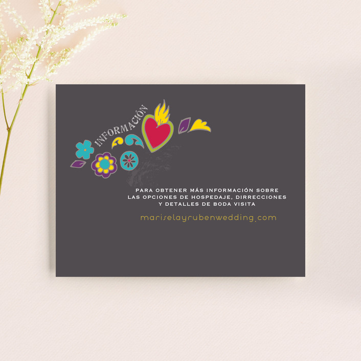 """""""Dia de los Muertos"""" - Whimsical & Funny Direction Cards in Slate by Inky Livie."""