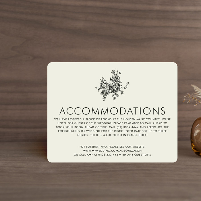 """""""Elegance Illustrated"""" - Direction Cards in Beige by Phrosne Ras."""