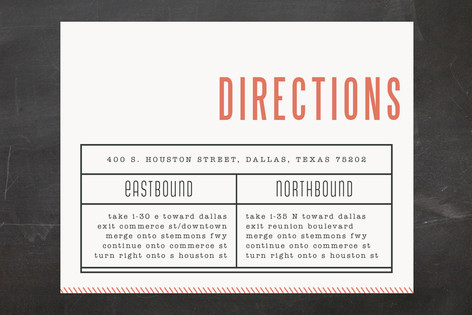 Ticket to Love Direction Cards