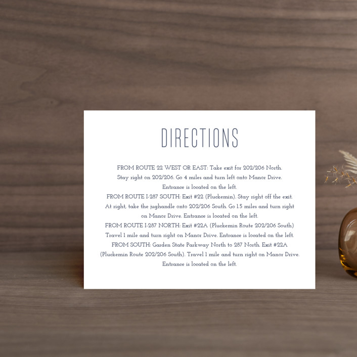 """""""Down by the Sea"""" - Preppy Direction Cards in Marine by Sandra Picco Design."""
