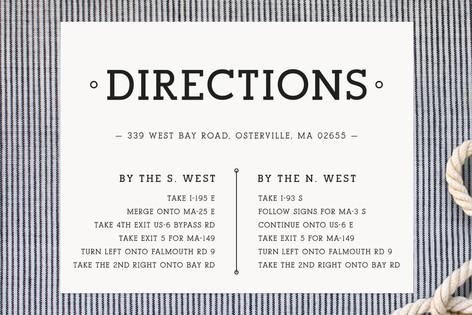 Elished Union Direction Cards