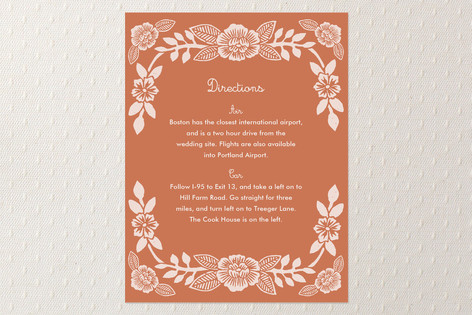 Block Printed Floral Direction Cards