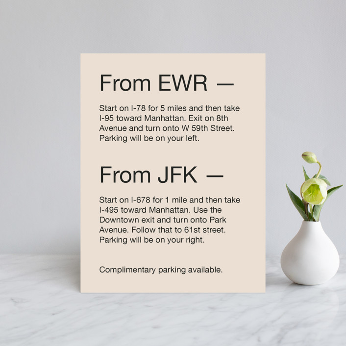 """""""Proposal"""" - Direction Cards in Buff by Jack Knoebber."""