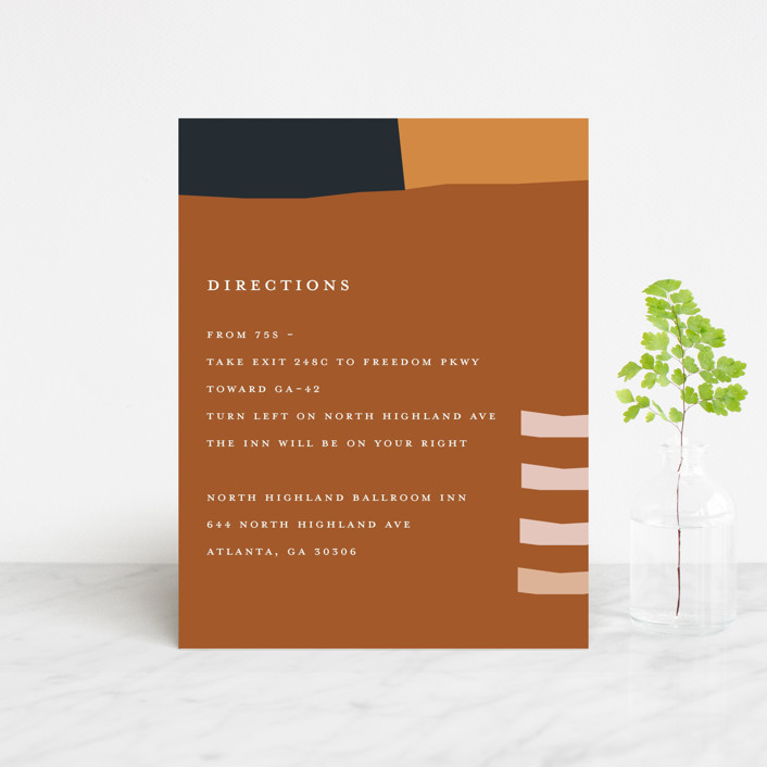 """""""Color Block"""" - Modern Direction Cards in Peach by Morgan Kendall."""