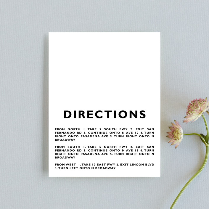 """""""Desenfadado"""" - Direction Cards in Black by Aspacia Kusulas."""