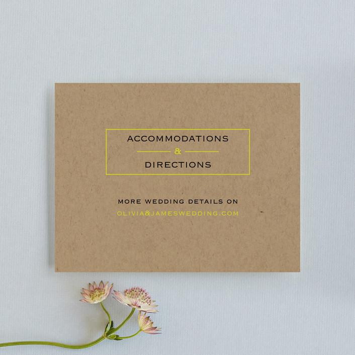 """Vintage Kraft"" - Modern Direction Cards in Chartreuse by Waldo Press."