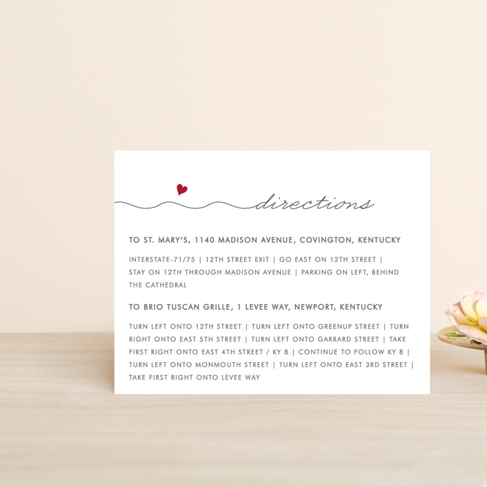 """""""Love Connection"""" - Whimsical & Funny Direction Cards in Red Hot by Kim Dietrich Elam."""