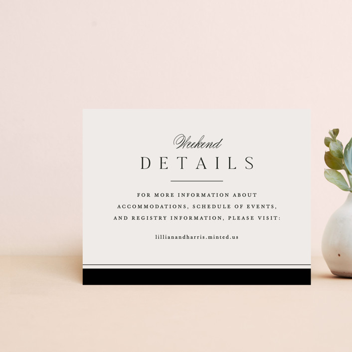 """""""Cambridge"""" - Direction Cards in Tuxedo by Amy Kross."""