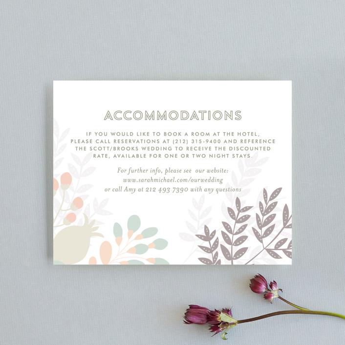 """Flower Burst"" - Floral & Botanical Direction Cards in Blush by Phrosne Ras."