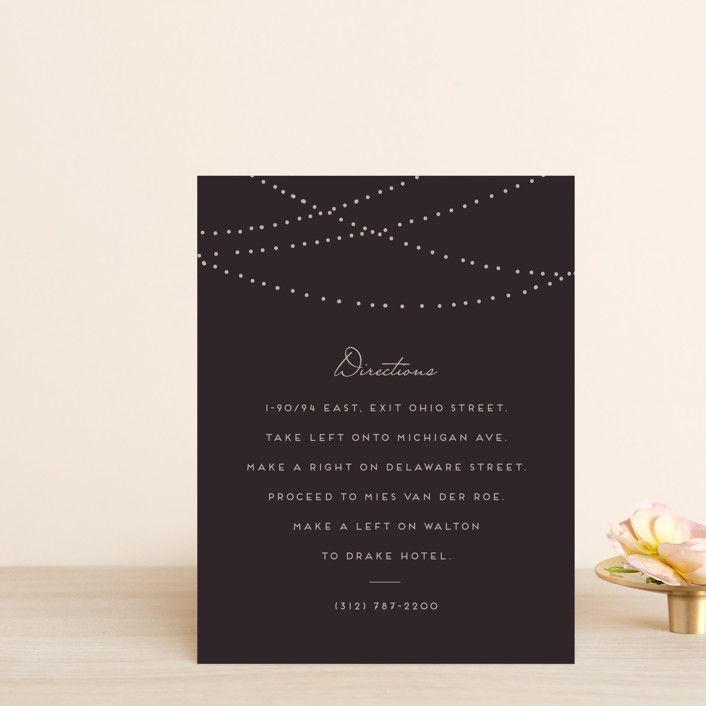 """""""Lavish"""" - Rustic Direction Cards in Chalkboard by Design Lotus."""