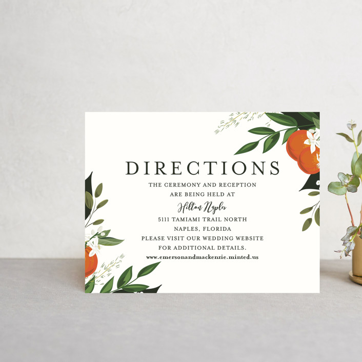 """""""Orange Blossoms"""" - Direction Cards in Pearl by Susan Moyal."""