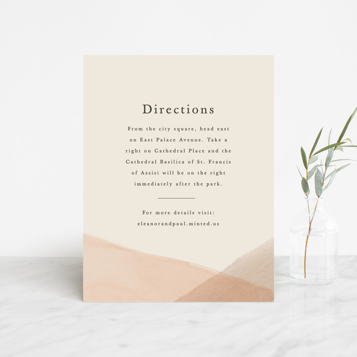 """Desert Wash"" - Direction Cards in Peach by Amy Kross."
