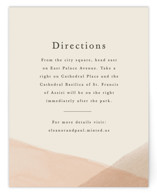 This is a orange enclosure card by Amy Kross called Desert Wash with standard printing on signature in standard.