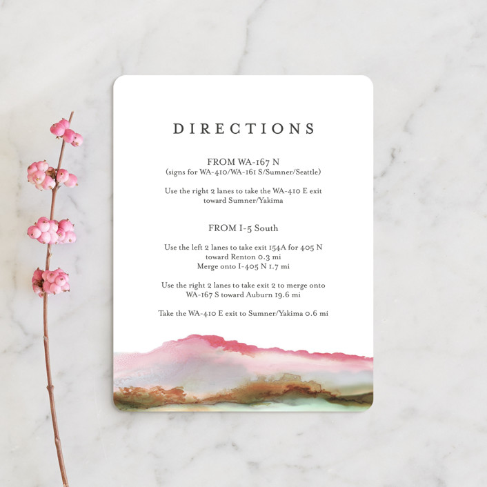 """""""Sedona"""" - Rustic, Bohemian Direction Cards in Desert Sands by Itsy Belle Studio."""