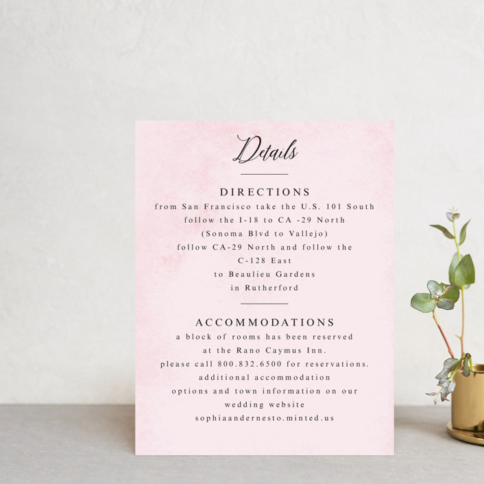 """Garden Party Joy"" - Direction Cards in Blush by frances."