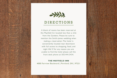 Peach Blooms Direction Cards