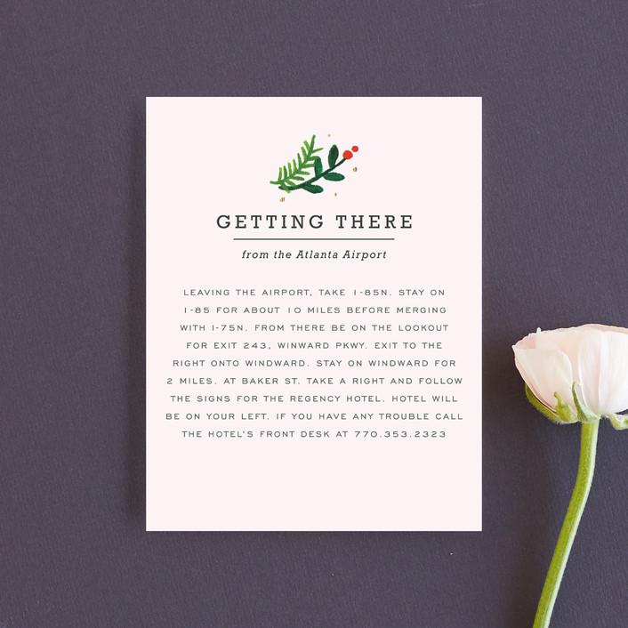 """""""Simple Flora"""" - Floral & Botanical Direction Cards in Powder by Kristen Smith."""