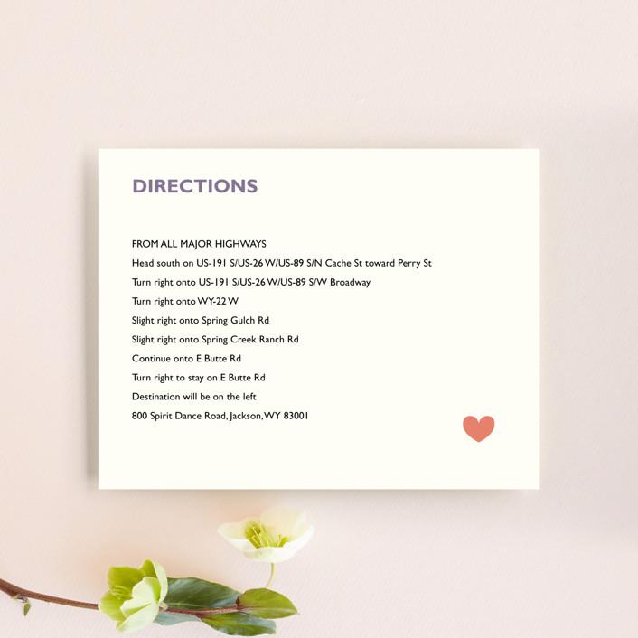 """""""Destination"""" - Direction Cards in Lilac Haze by leslie hamer."""
