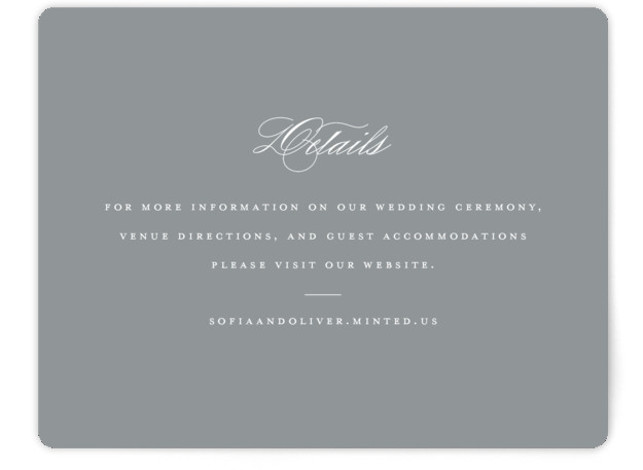 This is a bold and typographic, classic and formal, simple and minimalist, grey Direction Cards by Brandy Folse called Bold Love with Standard printing on Signature in Card Flat Card format. An elegant wedding invitation boldly featuring the couples names. ...