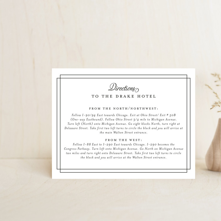 """""""Chic Gala"""" - Direction Cards in Cotton Candy by Kimberly FitzSimons."""