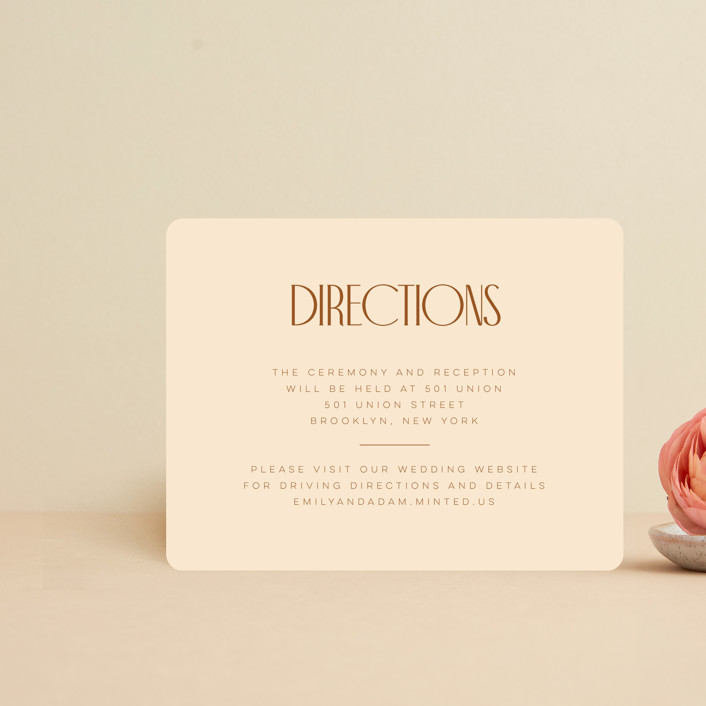"""""""Classic Touch"""" - Direction Cards in Rust by April Astudillo."""