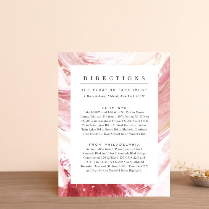 """""""pollen"""" - Direction Cards in Petal by Robin Ott."""
