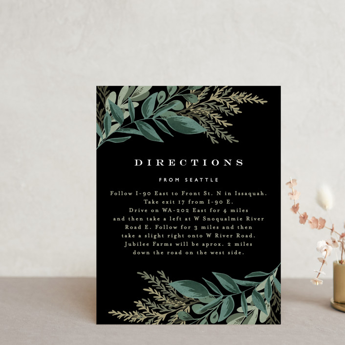 """""""Forest Crest"""" - Direction Cards in Obsidian by Alethea and Ruth."""