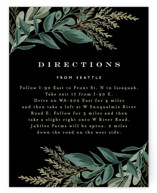 This is a black enclosure card by Alethea and Ruth called Forest Crest with standard printing on signature in standard.