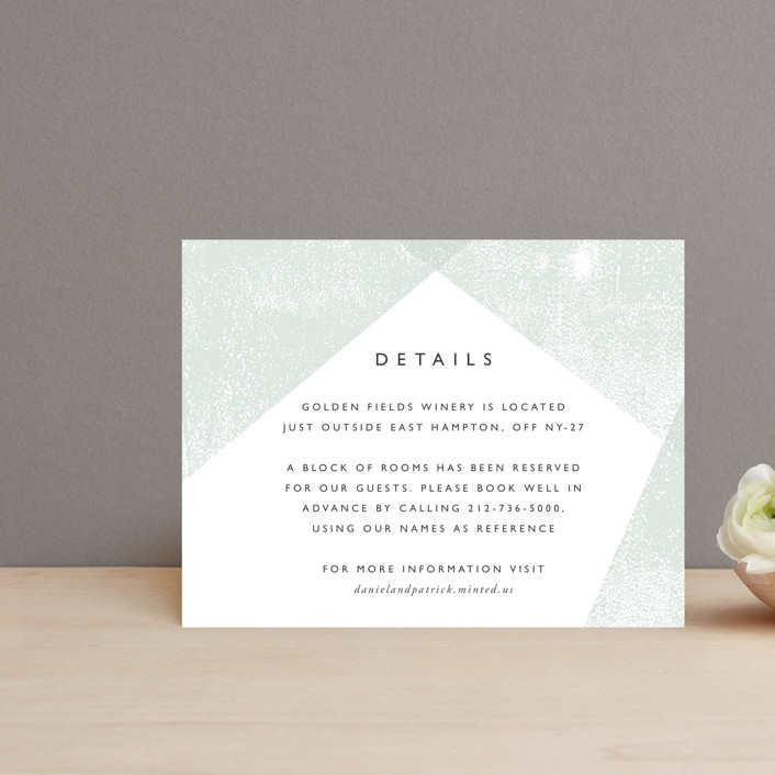 """Elegantly Minimal"" - Direction Cards in Seafoam by itsjensworld."