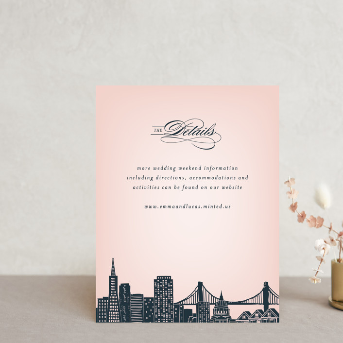 """Big City - San Francisco"" - Direction Cards in Blush by Hooray Creative."