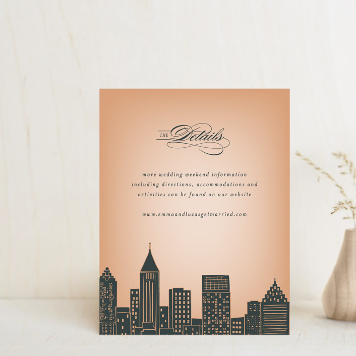 """Big City - Atlanta"" - Direction Cards in Georgia Peach by Hooray Creative."