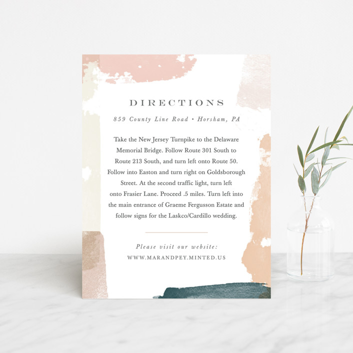 """""""Overlapping"""" - Modern Direction Cards in Blush by Jennifer Wick."""