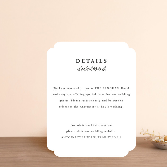 """""""Antoinette"""" - Direction Cards in Ivory by lulu and isabelle."""