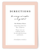 This is a pink enclosure card by Susan Moyal called Blossom with standard printing on signature in standard.