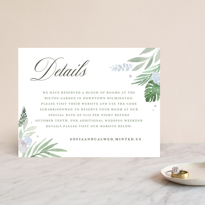 """""""Botanical Seal"""" - Direction Cards in Pastel by Kristen Smith."""