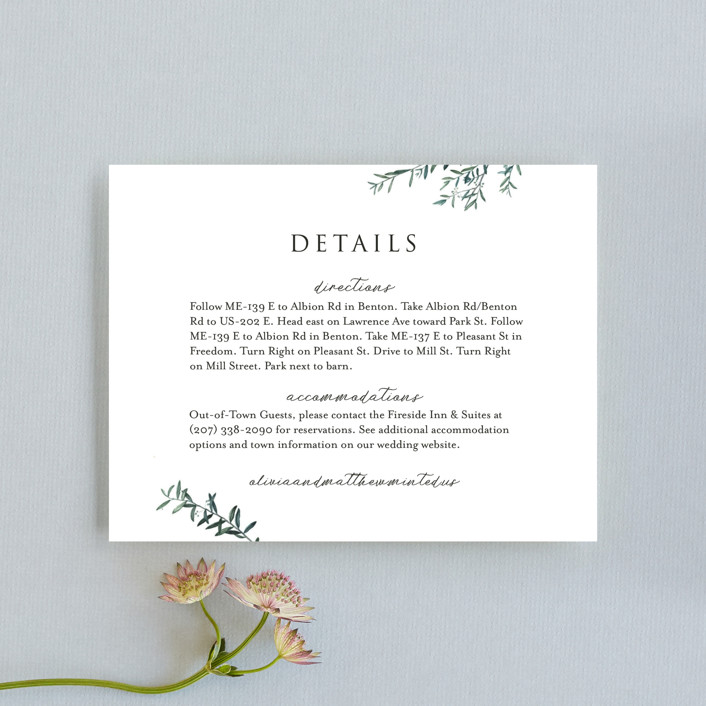 """Fresh Sage"" - Direction Cards in Olive by Christie Kelly."