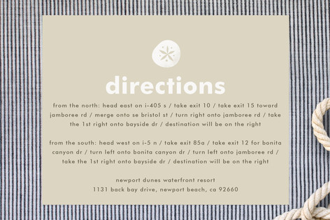 Seaside Initial Direction Cards