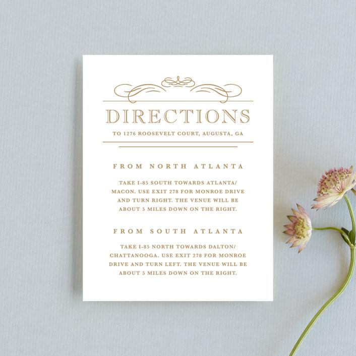 """Elegant Flourishes"" - Vintage, Elegant Direction Cards in Navy by Kristen Smith."