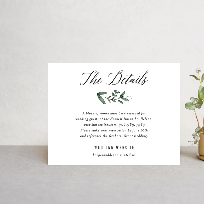 """""""Floral Wreath"""" - Direction Cards in Fresh by Kelly Schmidt."""
