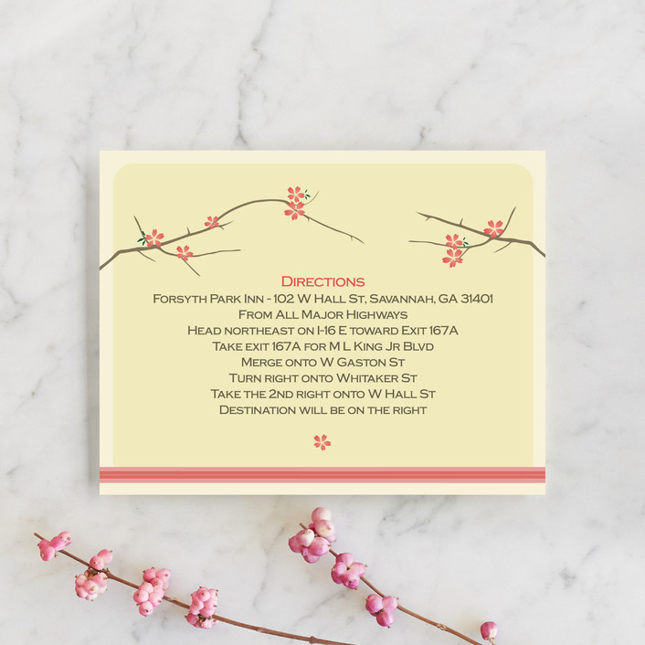 """Journey Together"" - Whimsical & Funny Direction Cards in Buttercream by Letter19Design."