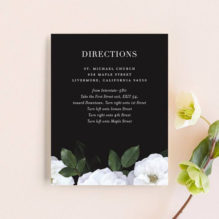 """Heirloom Roses"" - Direction Cards in Ebony by Jill Means."