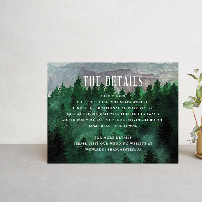 """Adventure Awaits"" - Rustic Direction Cards in Smoke by Elly."