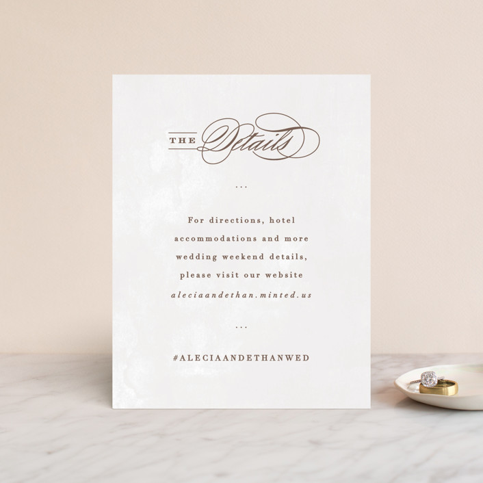 """Sonesta"" - Direction Cards in Mineral by Hooray Creative."