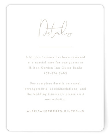 This is a classic and formal, simple and minimalist, grey Direction Cards by Jennifer Wick called Just the Two of Us with Standard printing on Signature in Card Flat Card format. Simplicity rules in this understated, editorial design featuring the ...