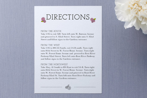 Parisian Blooms Direction Cards