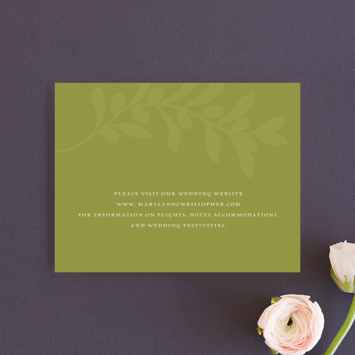 """Italiano"" - Direction Cards in Olive by Yolanda Mariak Chendak."