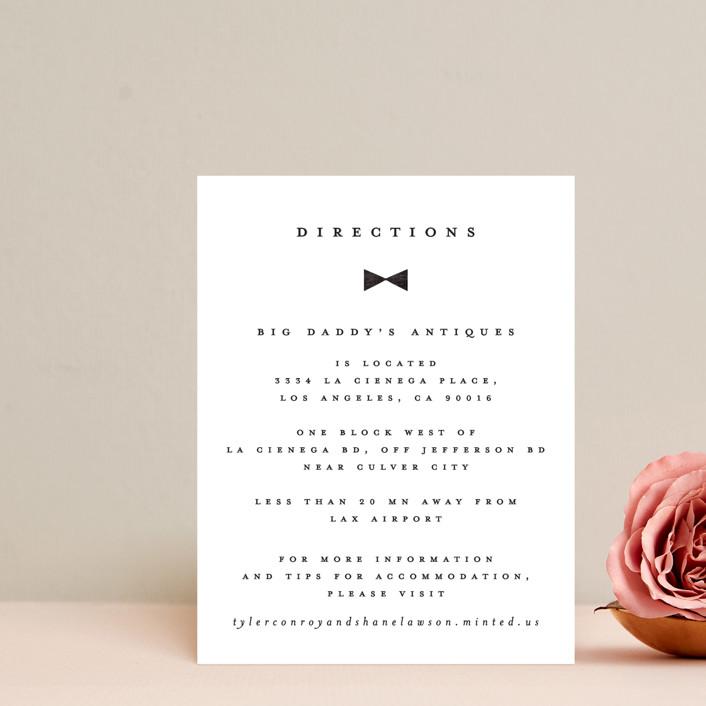 """""""Beau tied"""" - Modern Direction Cards in Tuxedo by Gwen Bedat."""