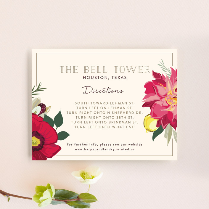 """Spring Blooms"" - Direction Cards in Blush by Susan Moyal."